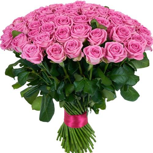 Купить на заказ Букет из 101 розовой розы с доставкой в Нур-Султане
