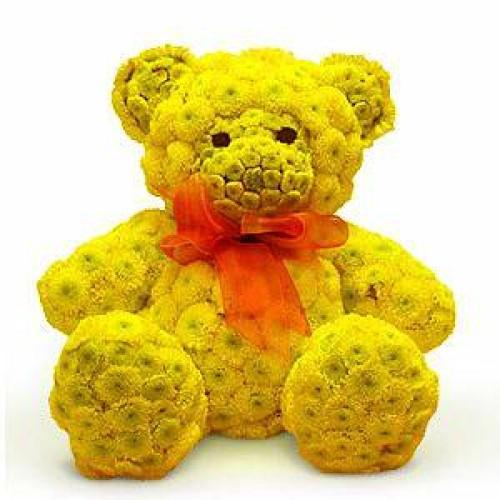 Купить на заказ Жёлтый мишка с доставкой в Нур-Султане