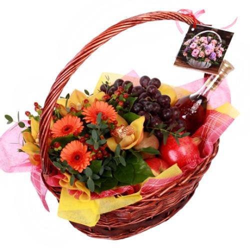Купить на заказ Корзина с фруктами 9 с доставкой в Нур-Султане