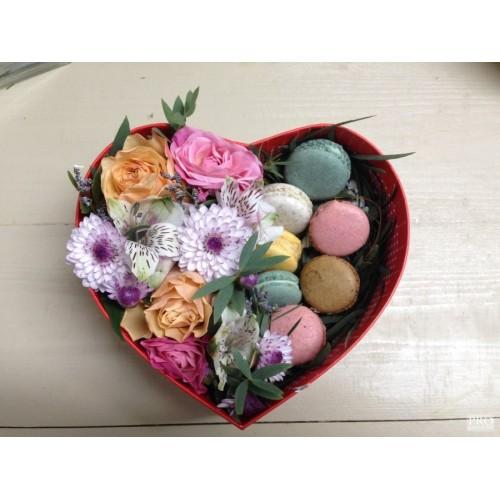 Купить на заказ Коробочка сердце №1 с доставкой в Астане