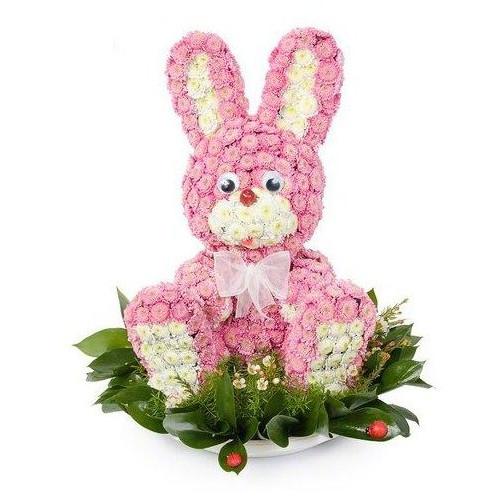 Купить на заказ Розовый зайчик с доставкой в Нур-Султане