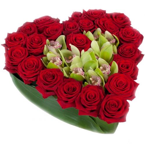 Купить на заказ Сердце №10 с доставкой в Астане