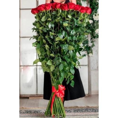 Купить на заказ 15 полтораметровых роз с доставкой в Нур-Султане