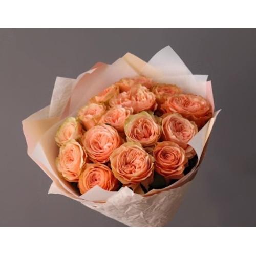 Купить на заказ 15 пионовидных роз с доставкой в Нур-Султане