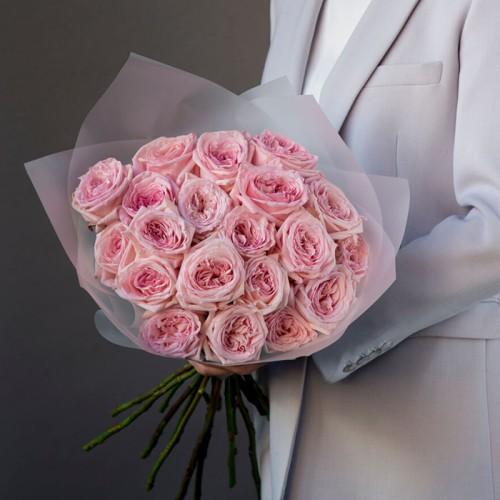 Купить на заказ 21 пионовидные розы с доставкой в Нур-Султане