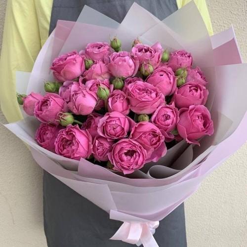 Купить на заказ 25 пионовидных роз с доставкой в Нур-Султане