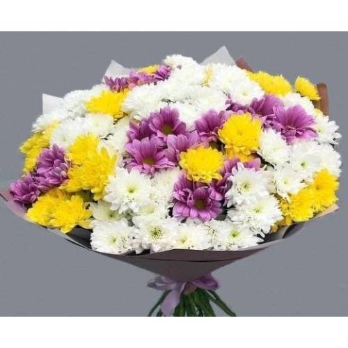Купить на заказ 25 хризантем с доставкой в Нур-Султане