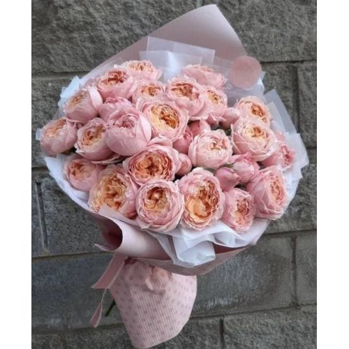 Купить на заказ 31 пионовидные розы с доставкой в Нур-Султане