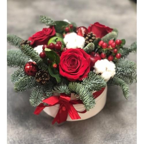 Купить на заказ Букет «Веселый Санта» с доставкой в Нур-Султане