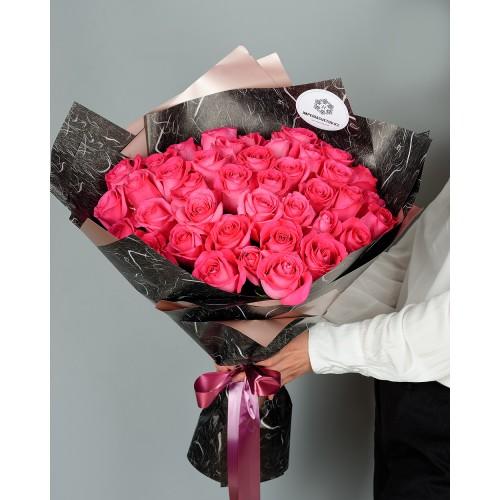 Купить на заказ Букет из 51 розовых роз с доставкой в Нур-Султане