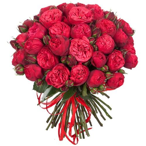 Купить на заказ Букет из 51 пионовидные розы с доставкой в Нур-Султане