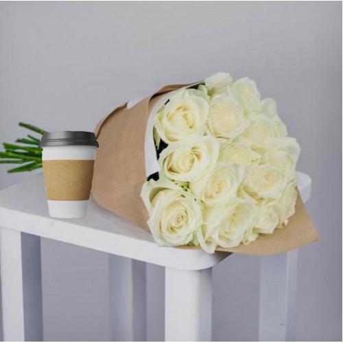 Купить на заказ Кофе с цветами с доставкой в Нур-Султане