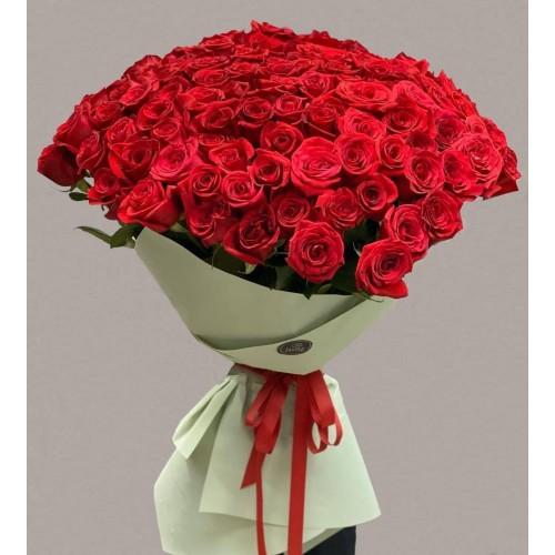 Купить на заказ 101 метровая роза с доставкой в Нур-Султане