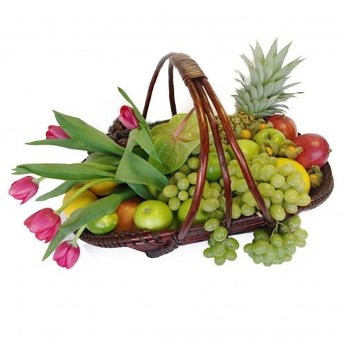 Купить на заказ Корзина с фруктами 3 с доставкой в Нур-Султане